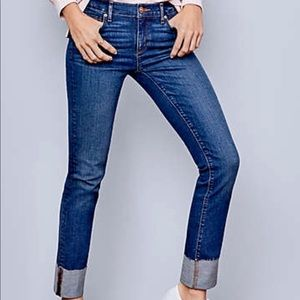 Loft Curvy Straight Cuffed Jeans